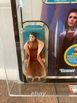 Star Wars Princesse Leia Bespin 48 Rotj Rare Afa 80y Moc Kenner Vintage 1983 Esb