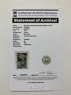 Star Wars R2-d2 12 Arrière-plan Vtg Kenner Moc Cas 85 85/85 Afa Archival Vient De Classer