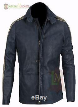 Star Wars Rogue Une Fourrure Capuche Vintage Casual Bomber En Cuir Véritable Celebrity Jacket