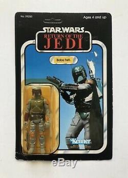 Star Wars Rotj 1983 Boba Fett 77 Retour Vtg Kenner Moc Non Perforé