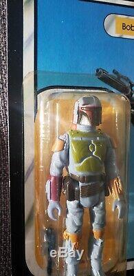 Star Wars Rotj 1983 Boba Fett 77 Retour Vtg Kenner Scellé Mocclear Bubble Belle