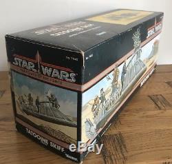 Star Wars Skiff Vintage Tatooine & Boîte D'origine + Ins & Inner Kenner 1984 Rare