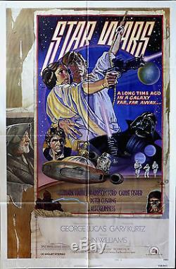 Star Wars Style D Nss 1977 A Libéré L'affiche Originale Rare De Cru