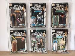 Star Wars Vintage 12 Back Karten Sammlung Moc 1977 1978 Afa Uk Misb