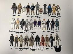 Star Wars Vintage 1980 Lot Esb Ensemble Figurines D'action Complet Armes Original