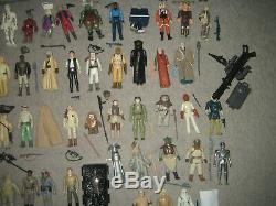 Star Wars Vintage 74 X Action Figuren V. Kenner 1977-1984 Potf Yak Visage Komplett