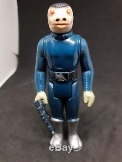 Star Wars Vintage Blue Snaggletooth 1978 En Vrac Pas Classé Avec L'arme D'origine