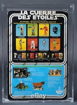 Star Wars Vintage Boba Fett Canadien 20 Dos-b Afa 70 (75/70/80) Moc Non Perforé