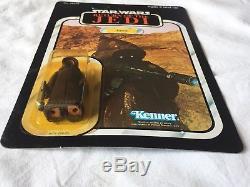 Star Wars Vintage Cardé Rotj Jawa 77 Retour Unpunched Moc W- Case 1983