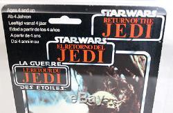 Star Wars Vintage Cardé Tri-logo Palitoy 70 Retour-b Yoda (serpent Orange) Afa 70 E