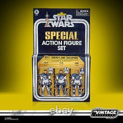 Star Wars Vintage Collection 501e Légion Arc Troopers 3 Pack Sdcc En Stock USA