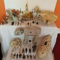 Star Wars Vintage Collection Emploi Lot Kenner Figurines Véhicules Jouets Espace