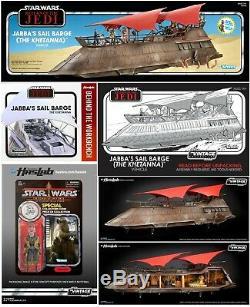 Star Wars Vintage Collection Jabbas Voile Peniche Khetanna Sealed Yak Visage + Livre