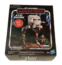 Star Wars Vintage Collection Mandalorian At-st Avec Klatooinian Raider Kenner