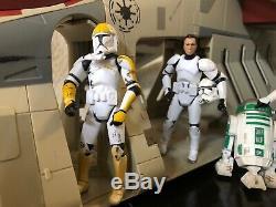 Star Wars Vintage Collection Republique Gunship Aotc Tru & Clone Troopers Lot