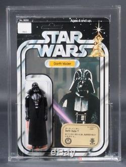 Star Wars Vintage Darth Vader Blanc Bkgd / Takara 12 Retour-c Afa 75 (75/80/85) Moc