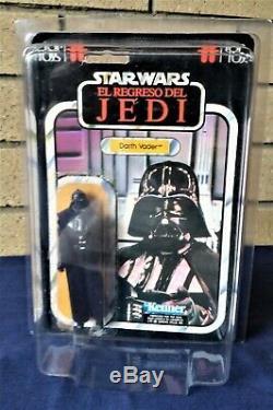 Star Wars Vintage Darth Vader Top Jouets Moc + Étui-el Regreso Del Jedi N / M