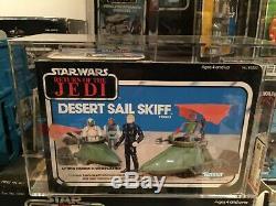 Star Wars Vintage Desert Skiff Sail Mint Afa 85 @@ Superbe @@ 1984
