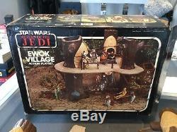 Star Wars Vintage Ewok Village Complet Avec La Boîte Et Les Instructions