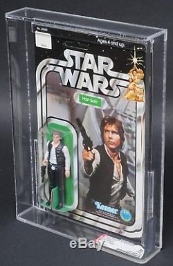 Star Wars Vintage Han Solo Petite Tête 12 Retour-c Afa 85 (85/85/85) Moc Unpunched