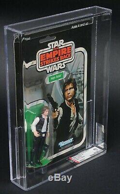 Star Wars Vintage Han Solo Petite Tête Esb 31 Dos-a Afa 80 (80/85/85) Moc