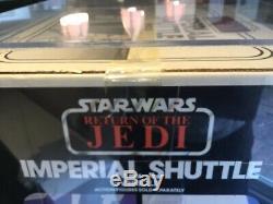 Star Wars Vintage Imperial Shuttle Graded Afa 80 Incroyable Et Très Rare 1984