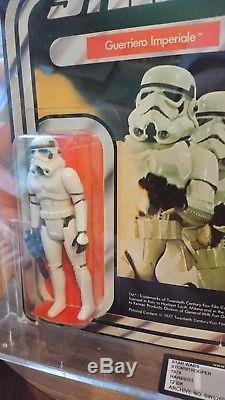 Star Wars Vintage Italien Harbert Stormtrooper Moc Ukg (pas Afa) 85%