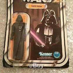 Star Wars Vintage Kenner 1977 Darth Vader Monnaie Sur La Carte 12 Retour Version C