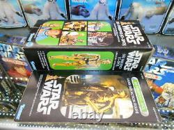 Star Wars Vintage Kenner Original 1977 C-3po Grande Taille Action Figurine Encadrée