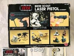 Star Wars Vintage LILI Ledy Bker Scout Pistolet Laser Mib Graal Rare México
