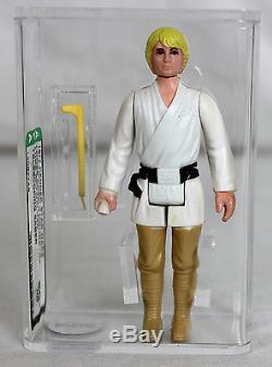 Star Wars Vintage Loose Luke Skywalker Avec Sabre Laser Télescopique Afa 80+ Nm # 130