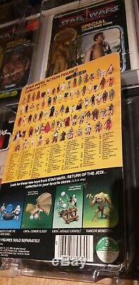 Star Wars Vintage Luke Skywalker X Wing Moc Usine Carte Plastifiée Aus Sammlung