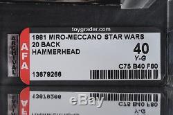 Star Wars Vintage Miro-meccano Hammerhead 20 Retour Afa 40y (75/40/80) Moc