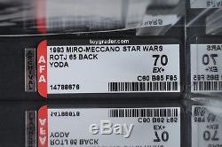 Star Wars Vintage Miro-meccano Yoda Rotj 65 Retour Afa 70 (60/85/85) Moc