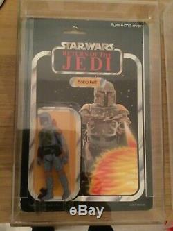 Star Wars Vintage Moc Boba Fett Palitoy Pas Afa Ukg Potf Kenner Peut-être Tt