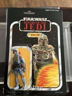 Star Wars Vintage Moc Boba Fett Peut Être Tt Ukg Afa Dernière 17 Rotj Esb Sw