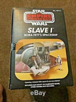 Star Wars Vintage Noir Slave 1 Série Edition Boba Fett Amazon Hasbro 2012 Nouveau