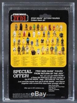 Star Wars Vintage Palitoy Boba Fett Rotj 45 Arrière-c Afa 85 (85/85/85) Moc