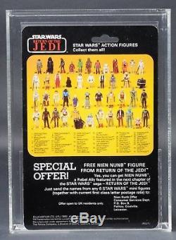 Star Wars Vintage Palitoy Boba Fett Rotj 45 Arrière-c Afa 85 (90/85/85) Moc