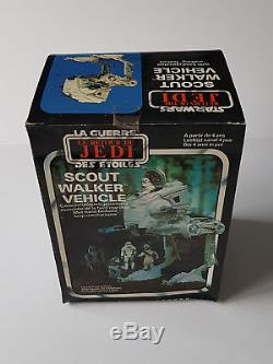 Star Wars Vintage Palitoy Scout Walker Véhicule Usine Scellée Misb