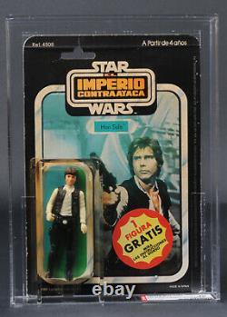 Star Wars Vintage Poch Esb 41 Back-c Han Solo Pale Hands Afa 40 (50/40/75) Moc