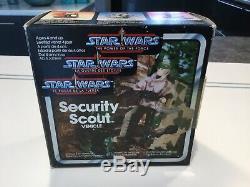 Star Wars Vintage Power Of Force Force Scout Véhicule De Sécurité Avec La Boîte