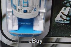 Star Wars Vintage R2-d2 12 Retour-a Sku / Bleu Foncé Afa 85 (80/85/85) Moc Non Poinçonné