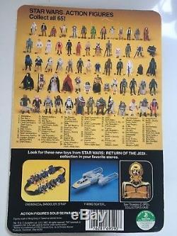 Star Wars Vintage Rotj Luke Skywalker Chevalier Jedi Bleu Sabre Moc 65 Retour