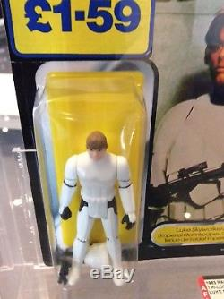 Star Wars Vintage Tri Logo Palitoy Luke Dans Stormtrooper 70 Retour Afa 80
