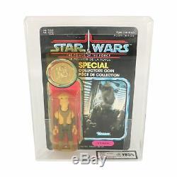 Star Wars Vintage Yak Visage Pouvoir De La Force / Potf Moc (ukg / Afa 85)