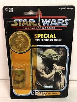 Star Wars Yoda Jedi Maître Chevalier 1984 Potf Moc Vintage Kenner Rare Luke Obi Wan
