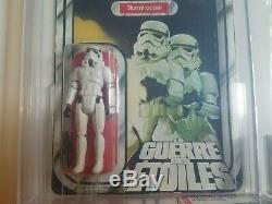 Stormtrooper Vintage Kenner Canada Star Wars 1978 Avec Gde Logo Moc Afa 75