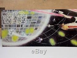 Support D'affichage À Figurine À Découpage Vintage Star Wars 1977 Avec Box Rare Kenner