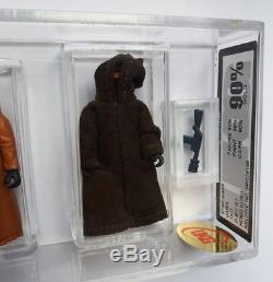 Ukg 85 Et 90 Cape En Vinyle Et Chiffon Jawa Double Grade Star Wars Vintage (sans Afa)